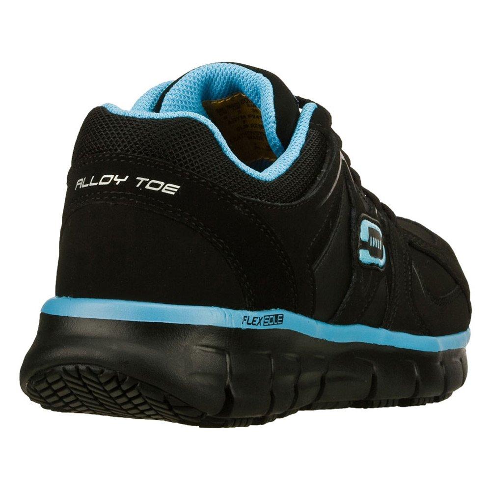 Skechers for Work Women's Synergy Sandlot Alloy Toe 7 Lace-up Work Shoe B00MTZ5Z22 7 Toe D US|Black/Blue 93d2ed