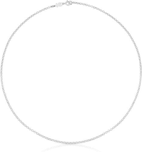 TOUS Collar Mujer, Gargantilla en plata de Primera Ley - Largo 45 cm