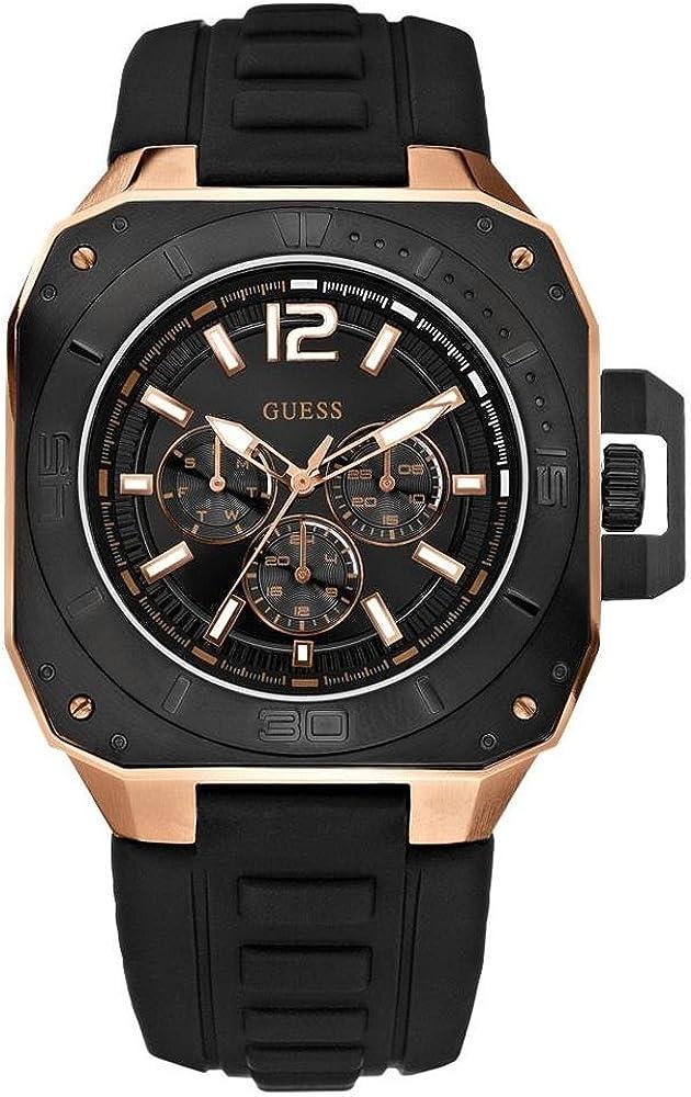 Guess W20011G1 - Reloj de caballero automático con correa negra