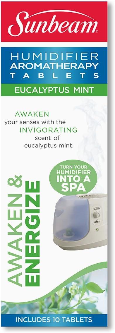 MyBat Sunbeam Eucalyptus Mint Humidifier Aromatherapy Tablets, SEM2300 U