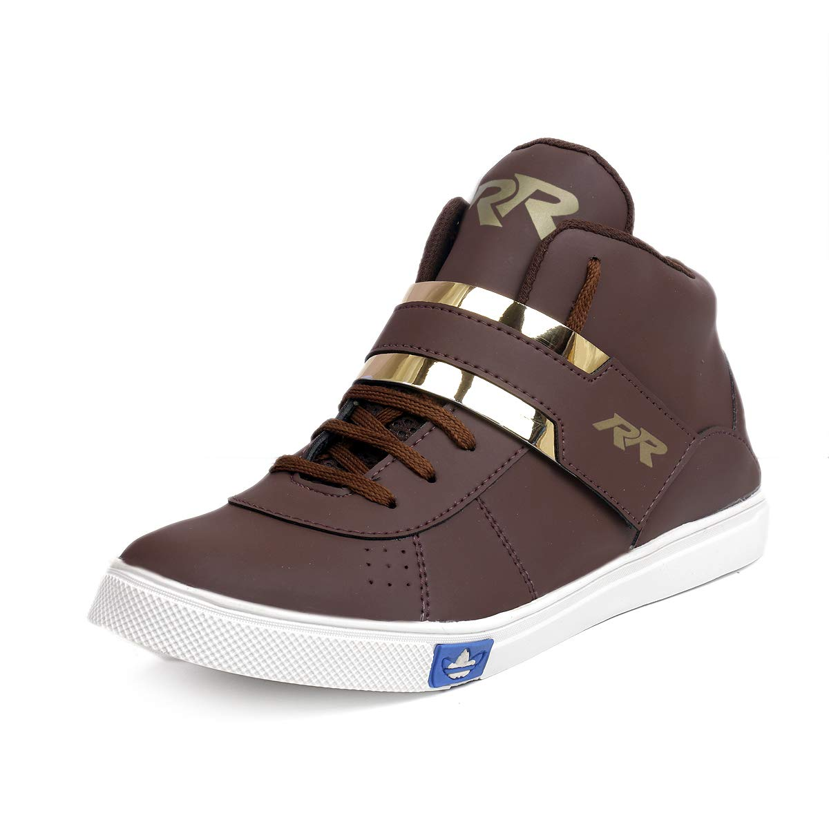 06314d5e3a167 Red Rose Men's Synthetic Leather Boots & Casual Shoes and Sneakers  Gold-G-Red, Black & White Shoes