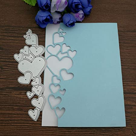 Romantic Heart Metal Cutting Dies Stencil Scrapbook Embossing Craft Album Decor