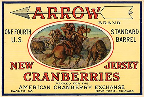 - Fruit Crate Label - Arrow New Jersey Cranberries