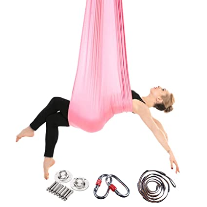 Yuanu Multifuncional Aéreo Yoga Hamaca Ultra Fuerte Safe Durable Antigravedad Hammock/Inversión Herramienta para Yoga Ejercicios
