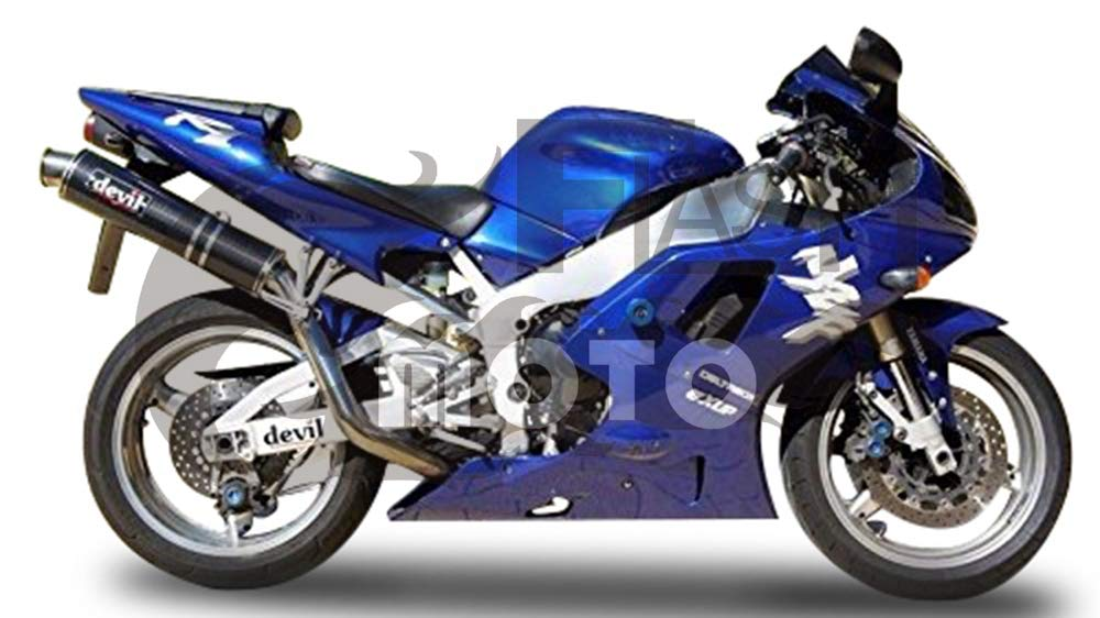 FlashMoto yamaha ヤマハ YZF-1000 R1 1998 1999用フェアリング 塗装済 オートバイ用射出成型ABS樹脂ボディワークのフェアリングキットセット ブルー   B07LF218WB