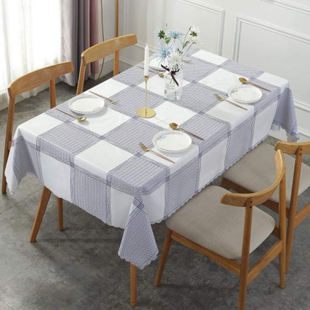 WJJYTX Wachstuch-Tischdecke, große abwischbare PVC-Vinyl-Tischdecke, die Küchentisch-Abdeckungs-Schutz-Blatt Green-140 * 180_D speist