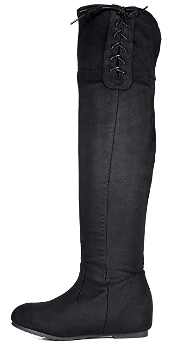 4e990683659 DREAM PAIRS Women's Over The Knee Thigh High Stretch Boots