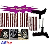 JAGGER Tubeless Tyre Puncture Plug Repair Kit for Car and Bikes with Extra 20 Strips (Free)