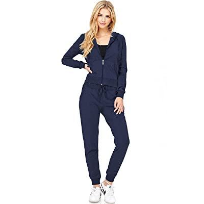 Ambiance Women's Cotton Zip Up Hoodie at Women's Clothing store