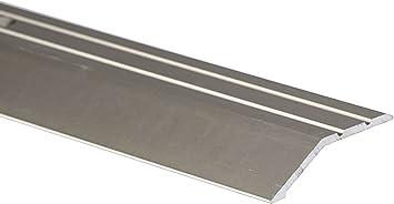 2m Ramp Edge Carpet 45x16mm Aluminium Door Trim Wooden Laminate Floors At Different Levels Tmw Profiles Anodised Silver Amazon Co Uk Diy Tools