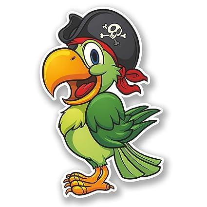 Amazon Com 2 X 15cm 150mm Pirate Parrot Vinyl Self Adhesive