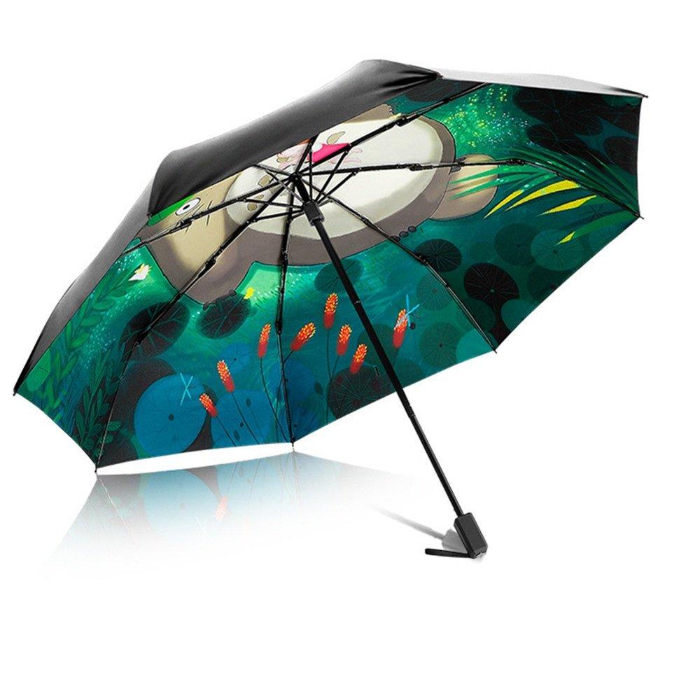 Creative Small Draw Light Folding Rainy Sun Umbrellas Windproof For Women Girl Kids Uv Protection Birthday Gift   B078HPPKKV