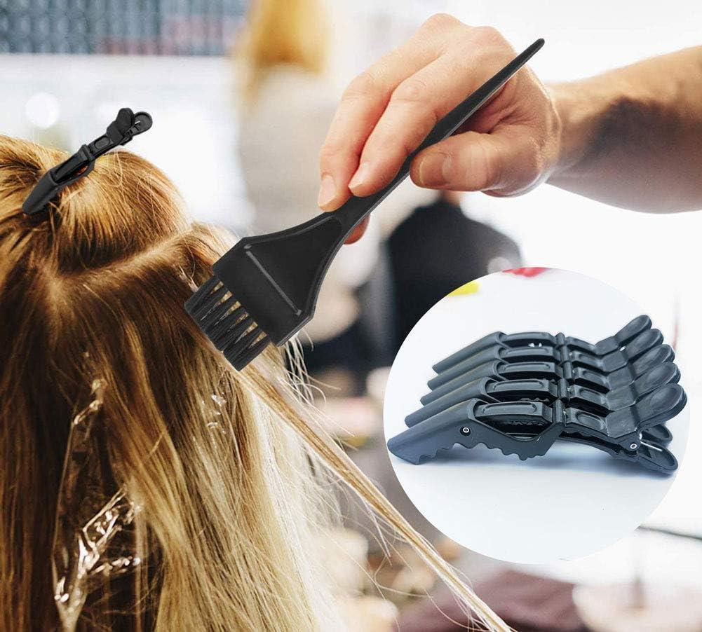 55 Pieces Hair Dye Coloring Set,Hair Tinting Bowl,Hair Dye Brush/Comb,Ear Cover,Shower Cap,Shawl, Alligator Clip,Gloves for Hair Coloring Bleaching Hair Dryers DIY Salon Hair Dye Tools: Kitchen & Dining