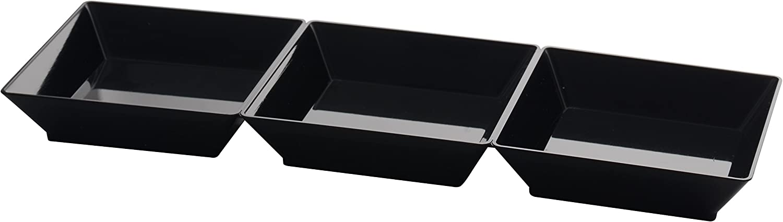 Fineline 6212-BK 長さ7.5インチ セクショントレイ (200個入りケース) (10 x 20)