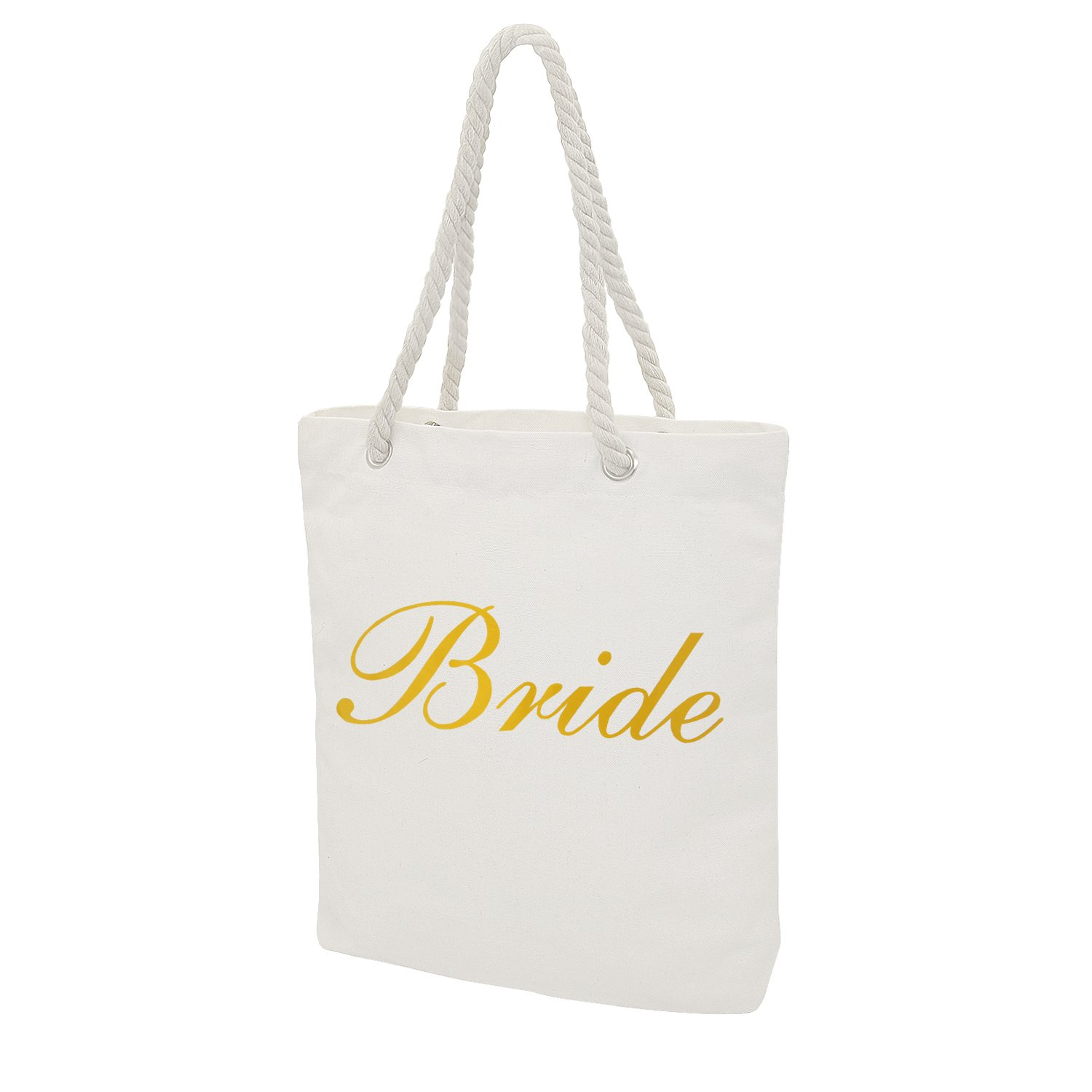 Personalised Tote Bag Wedding Favor Bride Bridesmaid Maid of Honor Hen Gift Bridal Shower