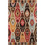 Momeni Rugs TANGITAN-2MTI2030 Tangier Collection, 100% Wool Hand Tufted Tip Sheared Transitional Area Rug, 2' x 3', Multicolor