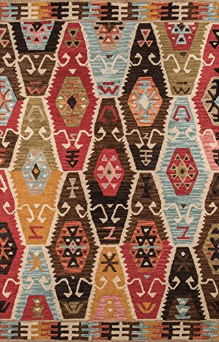 Momeni Rugs TANGITAN-2MTI2030 Tangier Collection, 100% Wool Hand Tufted Tip Sheared Transitional Area Rug, 2' x 3', Multicolor (Rug Wool Burnt Sienna)