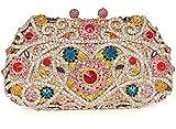 Crystal Clutch for Women Rhinestone Evening Bag (multicolor)