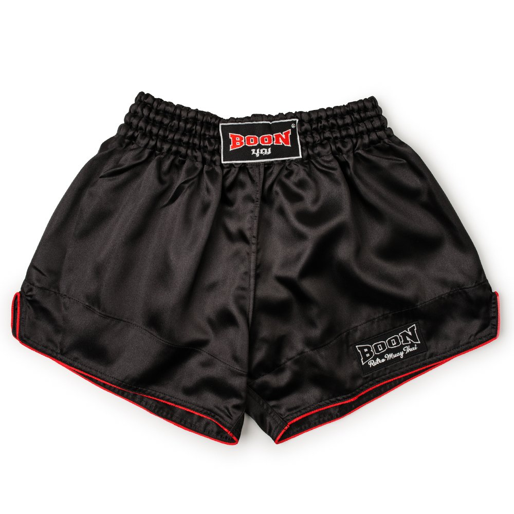 Boon Muay Thai Red Black and White Shorts