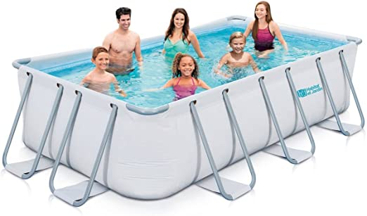 habitatetjardin Piscina Tubular - Ludo 1-8m2-4 x 2 x 1 m -: Amazon ...