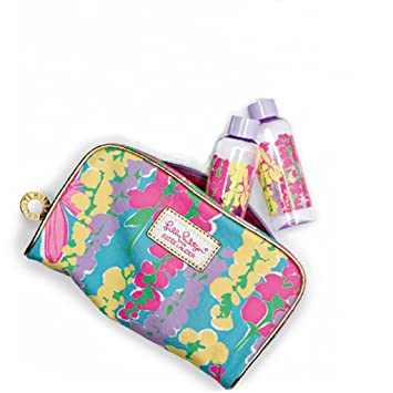 af607fd477 Amazon.com   Lilly Pulitzer Makeup Bag Spring 2013 with 2 Matching Bottles  Estee Lauder Exclusive   Cosmetic Tote Bags   Beauty