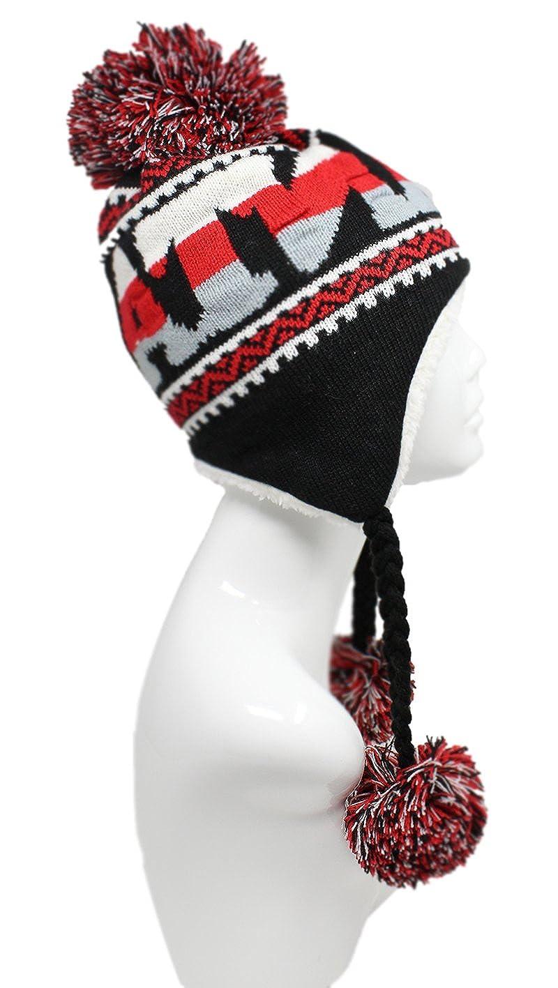 4ecf81d72fc ChoKoLids Football Team City Name Knitted Pom Pom Earflap Winter Hat - 23  Cities (Atlanta) at Amazon Men s Clothing store