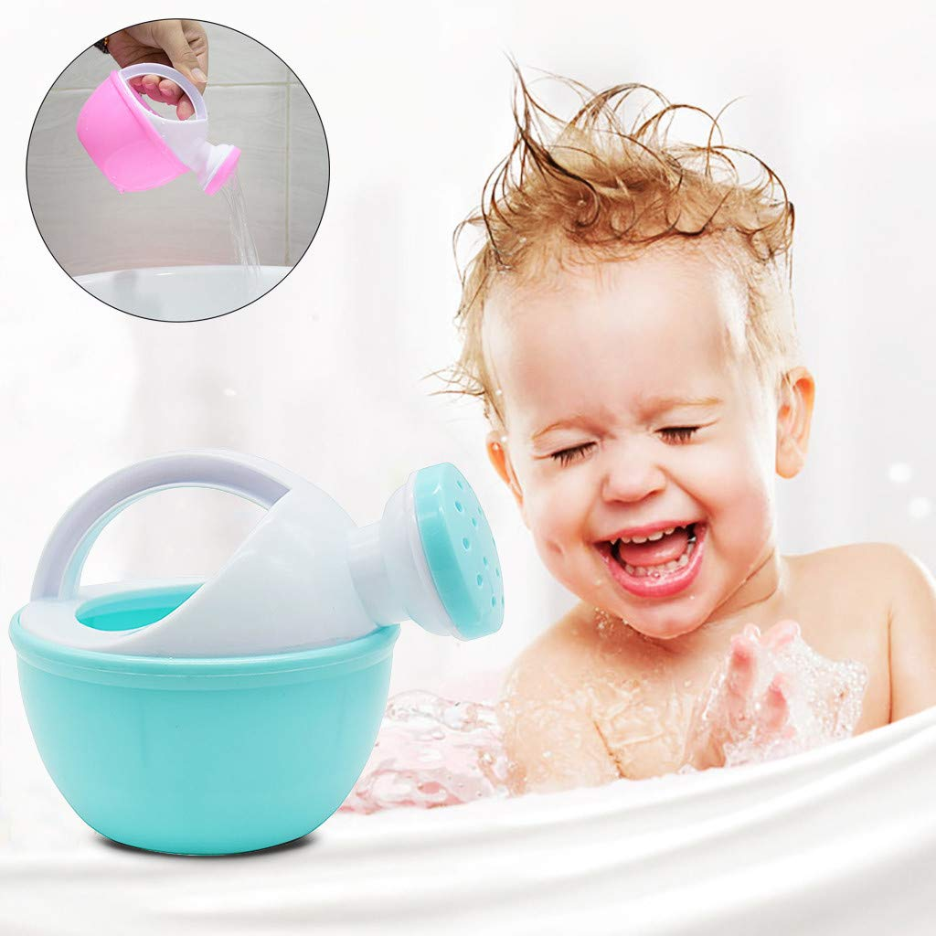 CapsA Shower for Kids Swimming Bathing Watering Pot Shower Pouring Toys Garden Flower Watering Can (Blue)