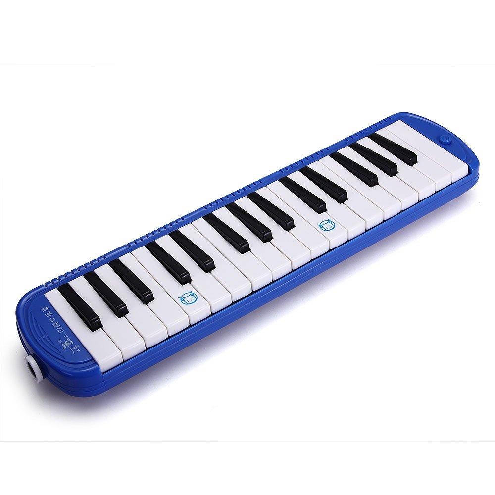 32 Key Melodica Pianica Harmonica Keyboard Mouthpiece + Bag Blue ptyukmall