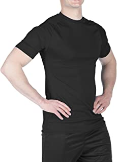 product image for WSI Men's Microtech Short Sleeve Form Fit Shirt, Black, Large