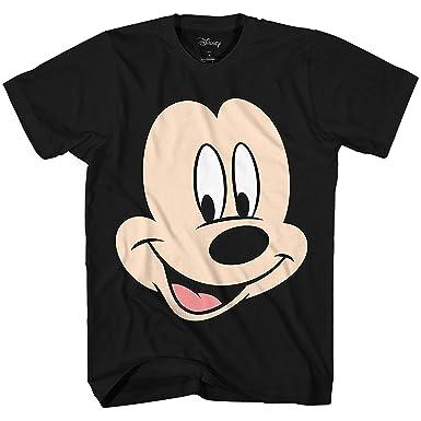 3a4fb445b7e63 Disney Mickey Mouse Face Big Smile Disneyland World Retro Classic Vintage  Tee Funny Humor Adult Mens