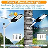 300W LED Solar Street Lights, Outdoor Dusk to Dawn