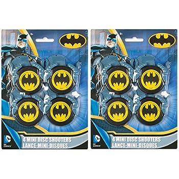 Batman Children's Birthday Party Favors Mini Disk Shooters, 4 ct (2 pk)