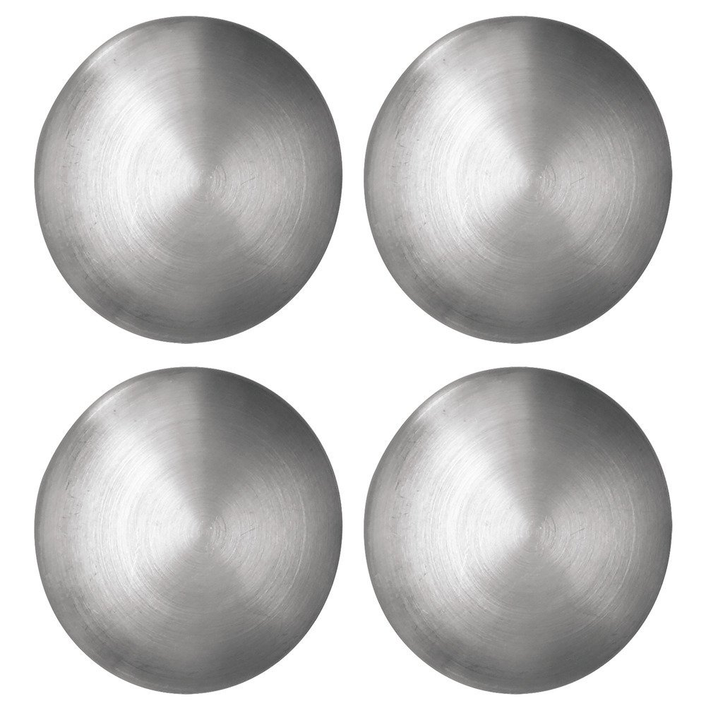 iDesign Forma, Round Refrigerator Magnets for Photos, Notes - Set of 4, Brushed Stainless Steel