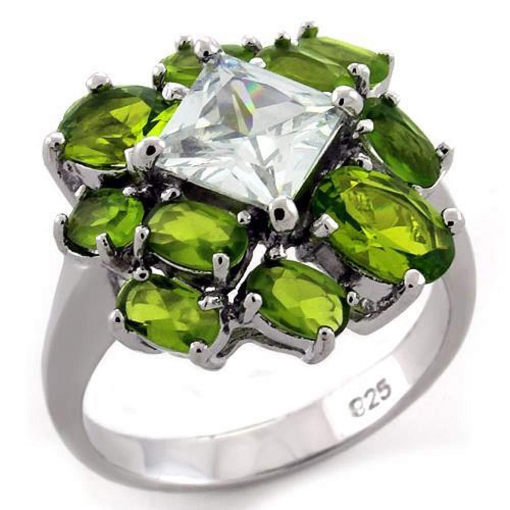 WildKlasS 925 Sterling Silver Ring Rhodium Women AAA Grade CZ Clear