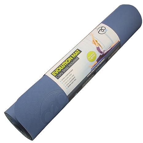 Amazon.com : Yoga-Mad Evolution Yoga Mat - Blue, 4mm ...