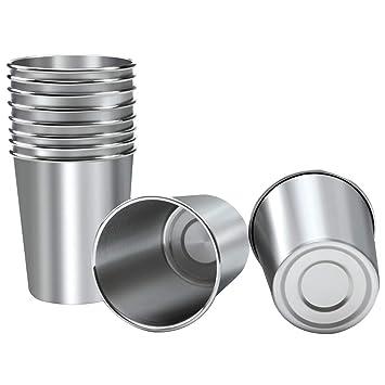 Amazon.com: Ruisita - 10 vasos de acero inoxidable para ...