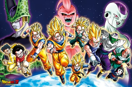 1000 piece jigsaw puzzle Dragon Ball Z Z warriors gatheROT! (50x75cm)