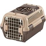 リッチェル キャンピングキャリーダブルドア Sサイズ 超小型犬・猫用 ダークブラウン