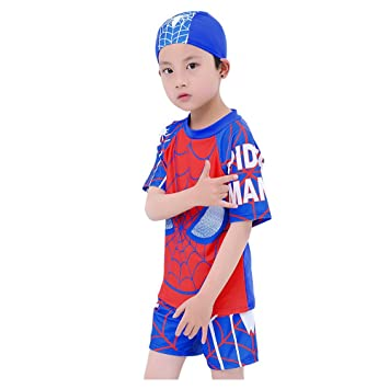 c2a2d0b91c 178684c6abfe9 Swimsuit Boys,Vishm 3PCS Multi Cartoon Kids Boys Rashguard  Swimsuit Spiderman Pattern Kids Short ...
