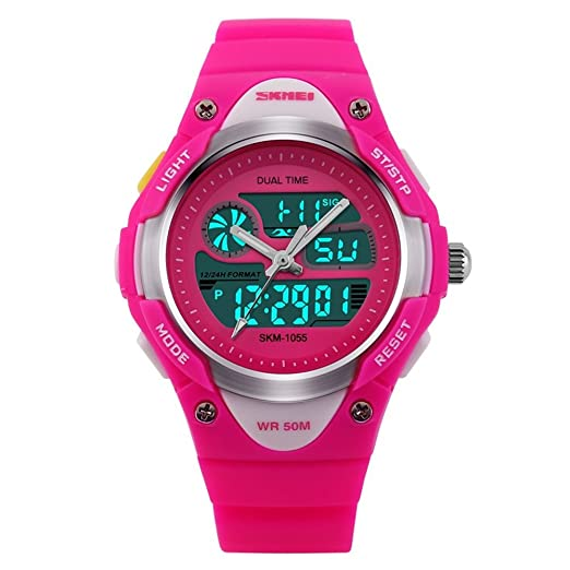 TONSHEN LED Sport Digital Waterproof Watch for Boy Girl Student and Children, Outdoor Electronic Military