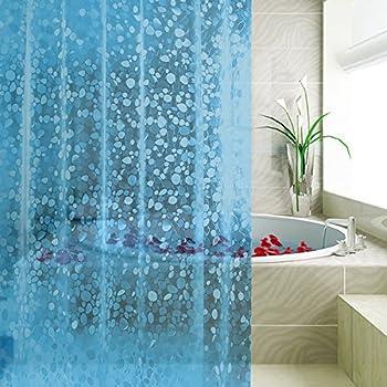 Carttiya EVA Shower Curtain Liner, Waterproof No Chemical Odor Bathroom  Curtain With 12 Hooks,