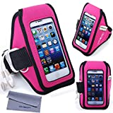 iPhone SE/5/5s/5c, iPod Touch 5/6 Armband, Wisdompro® Gym Sports Running Workout Armband Case