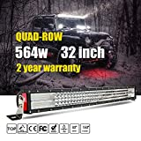 Jiuguang 32inch 564W 4Rows LED Light Bars Combo Beam 56400lm Cree Chips Highly