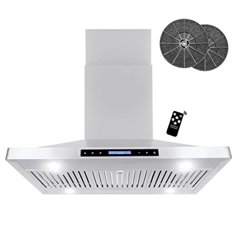 Beau Cosmo 760 CFM Ductless Island Stainless Steel Range Hood With Touch Screen, Kitchen  Vent Hood