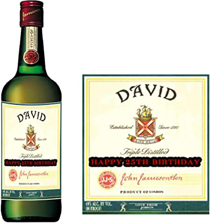 Etiqueta personalizada Jameson para botella de whisky ...