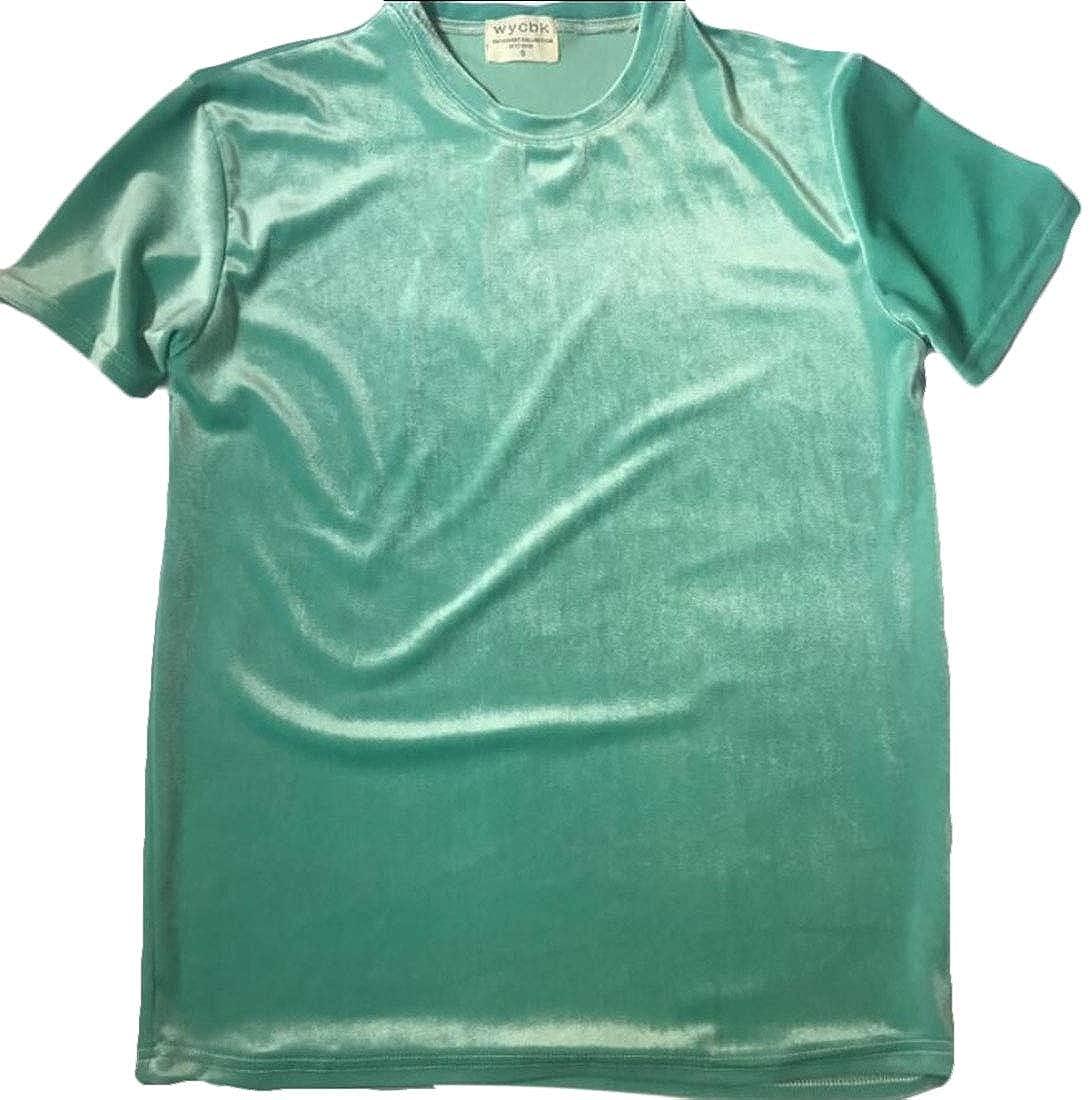 Men Short Sleeve Fashion Street Top Hipster Hip Hop Velvet T Shirt
