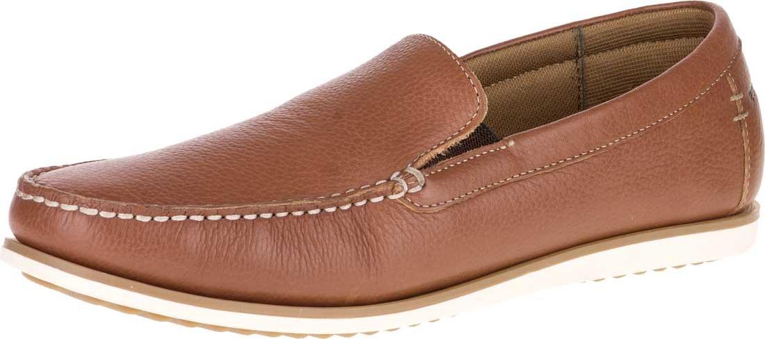 Hush Puppies Men's Bob Portland Slip-On Loafer, Tan Leather, 9.5 M US