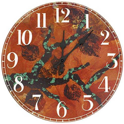 Oriental Furniture CAN-CLK-GITA9 Rich Autumn by Gita Wall Clock