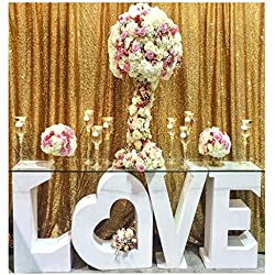 QueenDream 7ft x 7ft Gold Sequin Backdrop Fabric Designed Party Festival Decoration Gold Sequin Backdrop Photography backdrops Wedding Backdrop