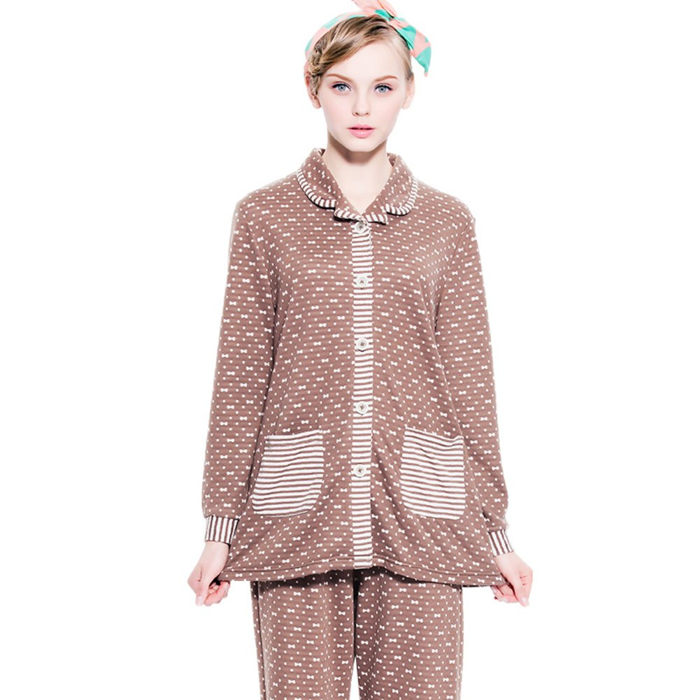 las señoras pijama/ pijamas pijamas de algodón A de manga pequeña ...